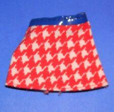 Vintage 1975-77 Barbie Growing Up Skipper 7259 Short Red White Houndstooth Skirt