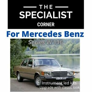 For MERCEDES BENZ S CLASS W116 72-80 instrument panel 11 LED KIT