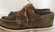 Sebago Fairhaven Leather Suede Shoe Oxford Boat Docksides Flint Sz 8 EU 41.5