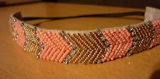 Roze goudkleurige pareltjes haarband NIEUW