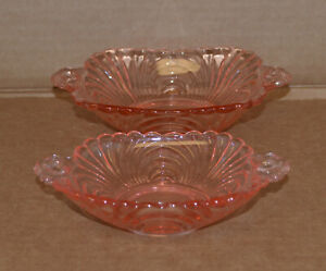 Pink Elegant Glass Console Bowl fabulous for Easter table