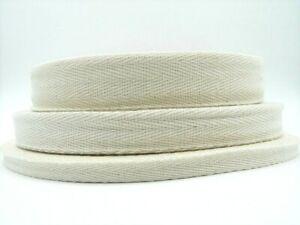 10m Cotton Webbing Herringbone Herringbone Grey 10/20/30 mm wide