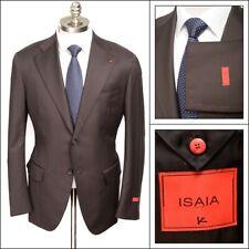 NWT ISAIA Base Musa Brown Aquaspider Wool Coat Jacket 62 fits 50 / 52 R