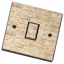 Brick Pattern Light Switch Cover,Skin,Sticker.Decal Any Room