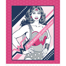 """Warner Brothers Wonder Woman Panel 100% cotton fabric by the Panel 35"""" x 43"""""""