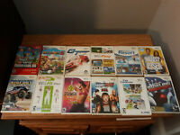 12 Wii Video Game Lot, Mario Party 8, Super Mario Bros, Wii Play Fit, GT Bigfoot