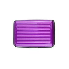 Hot Purple RFID Block Aluminium Holder Security Wallet ID Credit Card Hard Case