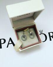 Pandora Silver Signature Sparkling Double Hoop Earrings ALE S925