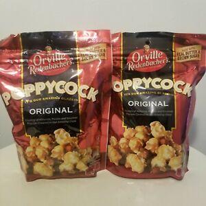 Orville Redenbacher's POPPYCOCK Original Popcorn 7oz Bags x2.Brown Sugar,Almonds