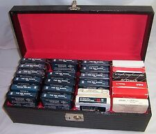 8 Track Tape Cassettes 24 Storage Carry Case,23 BIg Bands Orchestra,Mancini Tape