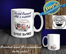 Ford Escort Mk1 RS2000 Personalised Ceramic Mug Gift. (C015D)