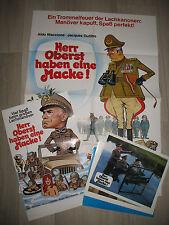 Herr Oberst haben eine Macke 16 Aushangfotos 2 Plakate Vive la quille  Jacques