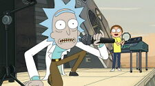 "054 Rick And Morty - Crazy Funny USA HOT Carton TV 25""x14"" Poster"