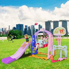UK 6 IN 1 Kids Swing Playground Slide Set Children Play Indoor Outdoor Toddler