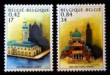 SELLOS BELGICA 2001 2997/98 EMISION CONJUNTA CON MARRUECOS MEZQUITA CASABLANCA