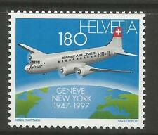Aviation Mint Never Hinged/MNH Swiss Stamps