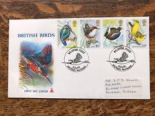 GB FDC 1980 British Birds, Kingfisher, Arundel Pmk , Mercury Cover