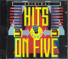 "SPACE 1  JOVANOTTI  2 UNLIMITED  DE LA SOUL  -RARO CD "" HITS ON FIVE 3 "" REMIXED"