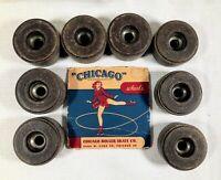 Lot of 8 Vintage Chicago Roller Skate Co. Pat. Pend. No. 78 Wheels