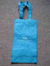 Princess Cruise Blue Lightweight Tote Bottle Bag Seawitch Logo Holds 2 Bottles