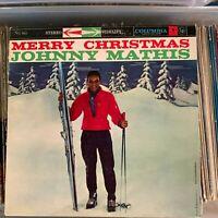 Johnny Mathis - Merry Christmas - EX vintage 1958 Columbia vinyl LP -Percy Faith