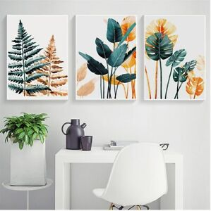Tropical Color Plant Leaves Print Nordic Canvas Poster Painting Wall Art Picture