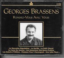 COFFRET 2 CD COMPIL 38 TITRES--GEORGES BRASSENS--RENDEZ VOUS AVEC VOUS...