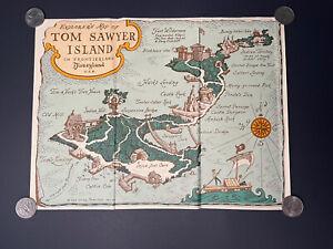 Disneyland Tom Sawyer Island 1957 Trifold Brochure Pamphlet Explorer's Map