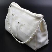 Brauttasche Z051 Abendtasche Damen Satin Traumhafte Perlen Braut Beutel Lafairy