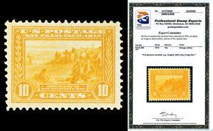 Scott 400 1913 10c Panama-Pacific Perf 12 Issue Mint VF HR Cat $115 w/ PSE CERT