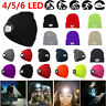 LED USB Rechargeable Power Beanies Knitted Cap Hat Camping Head Lamp Light Lot