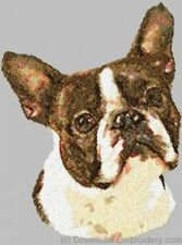 Large Embroidered Zippered Tote - Boston Terrier Dle1490