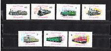 Hongrie   serie 7 trains  chemin de fer  1976   num: 2523/29  **