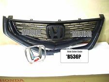 Oem B536P Front Grille +Center H emblem 06-07 HONDA ACCORD CL7 CL9 ACURA TSX OE