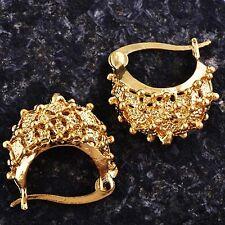 Cute 9K Yellow Gold Filled Girls Womens hedgehog Hoop Earrings D6143