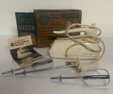 Vintage GE General Electric 3-speed Hand Mixer White, 1961 Cat No M57, 100 Watts