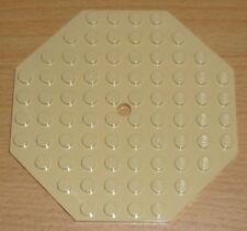 Lego 1 Platte 10 x 10 Achteck in beige / tan