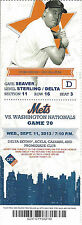 Pat Zachry 1978 All-Star Mets vs. Nationals Citi Stub Sept 12 2013 Game 71