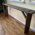 Antique Vintage Primitive Wood Console Table Slimline