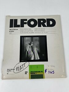 Ilford 8x10 in Multigrade FB MGFB .5K 68G281 Matte Double Weight Open 8.3 ounce