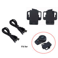 Mini USB Chargeing Cable + Mount Clip Bracket For Motorcycle FDC 500M VB Headset