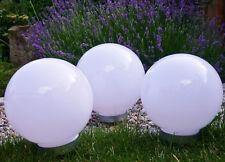 Solar Kugelleuchte 3x 20cm Set Gartenkugel Gartenleuchte Außen Kugellampe Design