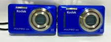 LOT OF 2 Kodak PIXPRO FZ53 16 MP Digital Cameras- BLUE - 819900012583 AS IS