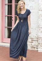 Matilda Jane Deep Water Maxi Dress Size L Large Womens Blue New In Bag