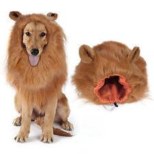 Pet Dog Costume Lion Mane Wig Hair For Dog Halloween Clothes Fancy Dress Up