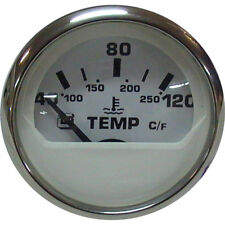 WATER TEMPERATURE GAUGE - 12V WHITE WATER TEMP ss rim.