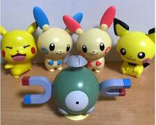 Bandai Pokemon Figure Capchara Gashapon 6 Pikachu Pichu Magnemite Plusle 5 pcs