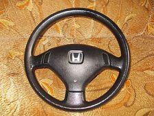 Honda Civic 92 95 Genuine OEM JDM BLACK Steering Wheel 3 Spoke Eg Ej EDM NO SRS