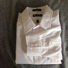 Chaps Men's 17 32/33 Classic Fit Long Sleeve White Dress Shirt