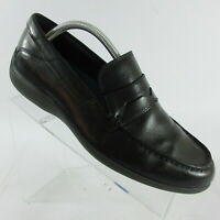 Rockport Aiden Black Leather Penny Loafer Slip On Driving Shoes Mens Size 10